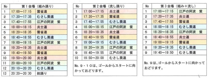 2018サンロード阿波踊り進行表.JPG